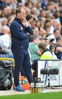 Preston North End's Manager Simon Grayson looks more Larry Grayson than Simon Grayson<br /> <br /> Photographer Dave Howarth/CameraSport<br /> <br /> Football - The Football League Sky Bet Championship - Preston North End v Middlesbrough -  Sunday 9th August 2015 - Deepdale - Preston<br /> <br /> © CameraSport - 43 Linden Ave. Countesthorpe. Leicester. England. LE8 5PG - Tel: +44 (0) 116 277 4147 - admin@camerasport.com - www.camerasport.com