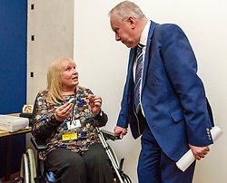 Pictured: Alex Neil MSP meets petitioner Elaine Holmes<br /> Thousands of Scottish women have been fitted with polypropylene transvaginal mesh to treat pelvic organ prolapse or stress urinary incontinence. As a result women in every Scottish constituency have been severely injured or permanently disabled following this procedure, some have lost organs, many their careers and their relationships.  The women and their families  are asking MSPs to sign a pledge <br /> <br /> Ger Harley | EEm 16 March 2017
