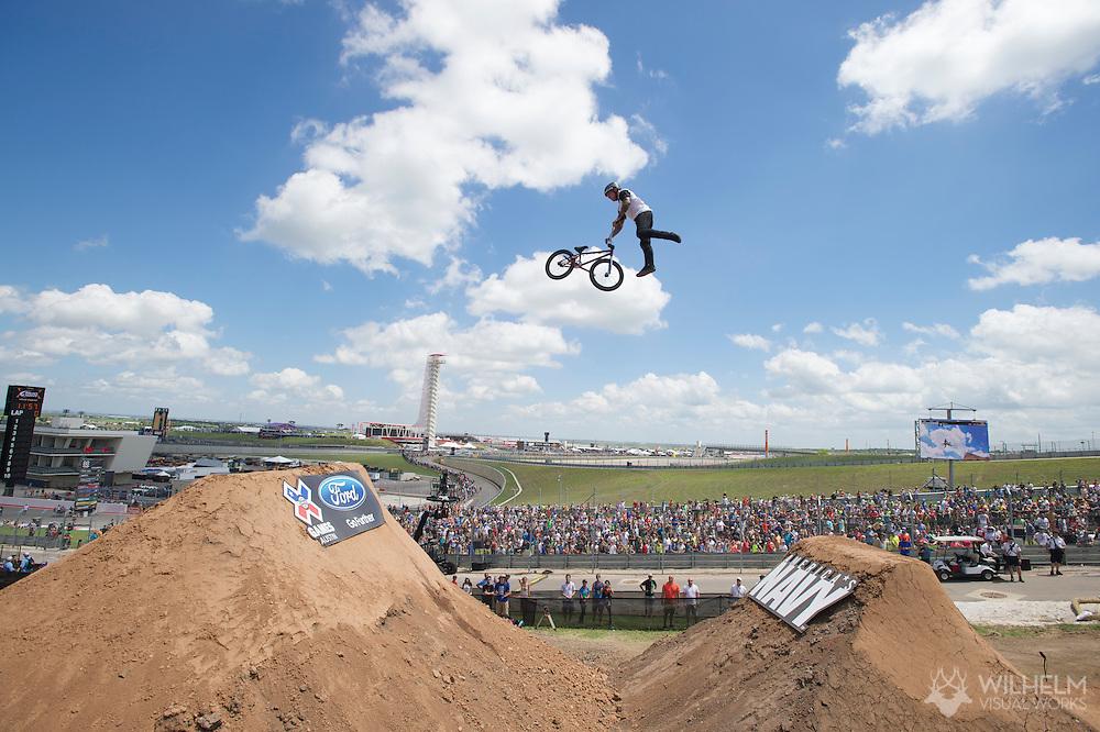Brandon Dosch during BMX Dirt Finals at 2014 X Games Austin in Austin, TX.    ©Brett Wilhelm/ESPN