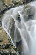 Detail of Horsetail Falls along Pyramid Creek, Deoslation Wilderness, El Dorado County, California