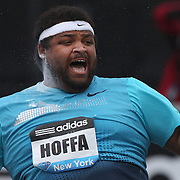 Reese Hoffa, USA, in action during the Men's Shot Put event at the Diamond League Adidas Grand Prix at Icahn Stadium, Randall's Island, Manhattan, New York, USA. 25th May 2013. Photo Tim Clayton