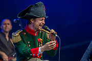 The Divine Comedy led by Neil Hannon (Napoleon outfit) play teh Obelisk Stage - - The 2017 Latitude Festival, Henham Park. Suffolk 16 July 2017