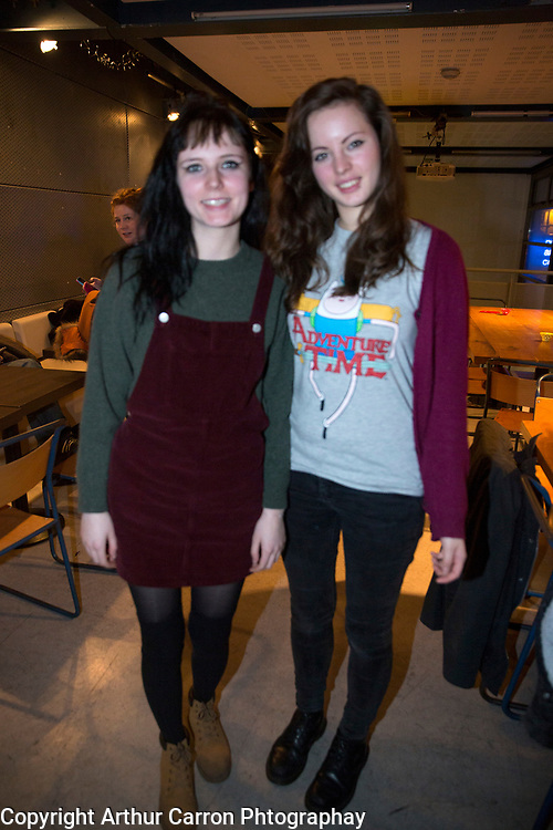 7/1/16 Hannah Louise and Emily Lawrence, Edinburgh at the play Overshadowed at the Project Arts Centre in Temple Bar. Picture: Arthur Carron