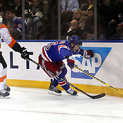 Martin St. Louis, (right), New York Rangers, in action  during the New York Rangers Vs Philadelphia Flyers, NHL regular season game at Madison Square Garden, New York, USA. 26th March 2014. Photo Tim Clayton