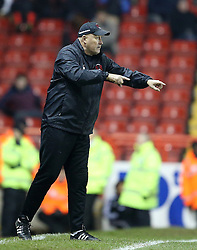Leyton Orient Manager, Russell Slade gestures on the touchline - Photo mandatory by-line: Matt Bunn/JMP - Tel: Mobile: 07966 386802 26/11/2013 - SPORT - Football - Bristol - Ashton Gate - Bristol City v Leyton Orient - Sky Bet League One