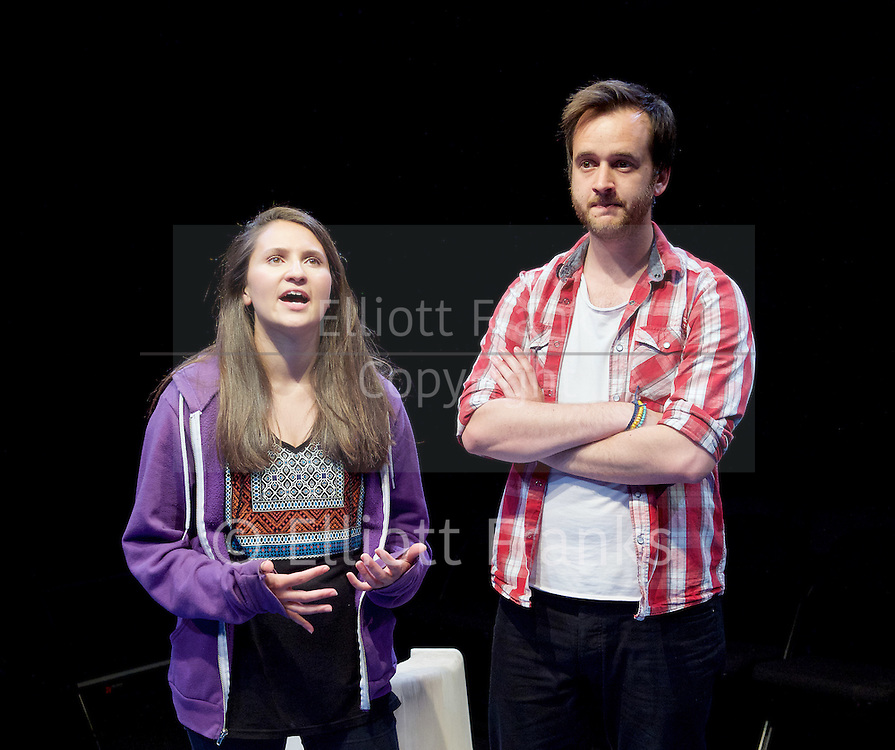 Positive<br /> by Shaun Kitchener <br /> at Park Theatre, Park 90, Finsbury Park, London , Great Britain <br /> 8th July 2015 <br /> press photocall<br /> <br /> directed by Harry Burton <br /> <br /> <br /> <br /> Nathalie Barclay as Nikki <br /> <br /> <br /> Paul Heelis as Greg <br /> <br /> <br /> <br /> <br /> Photograph by Elliott Franks <br /> Image licensed to Elliott Franks Photography Services