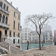 VENICE, ITALY - JANUARY 05:  A general view toward the Grand Canal as thick fog shrouds the city, on January 5, 2012 in Venice, Italy. Venice woke up this morning under a heavy blanket of fog adding to the atmosphere of the city.