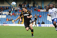Newport County's Conor Washington leaves Bury's Nathan Cameron standing. Skybet Football League two match, Bury v Newport county at Gigg Lane in Bury on Saturday 5th Oct 2013. pic by David Richards, Andrew Orchard sports photography,