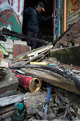 Mike is a homeless man living around Sheffield. His pad is in a derelict building used be graffiti artists, street drinkers and drug addicts.
