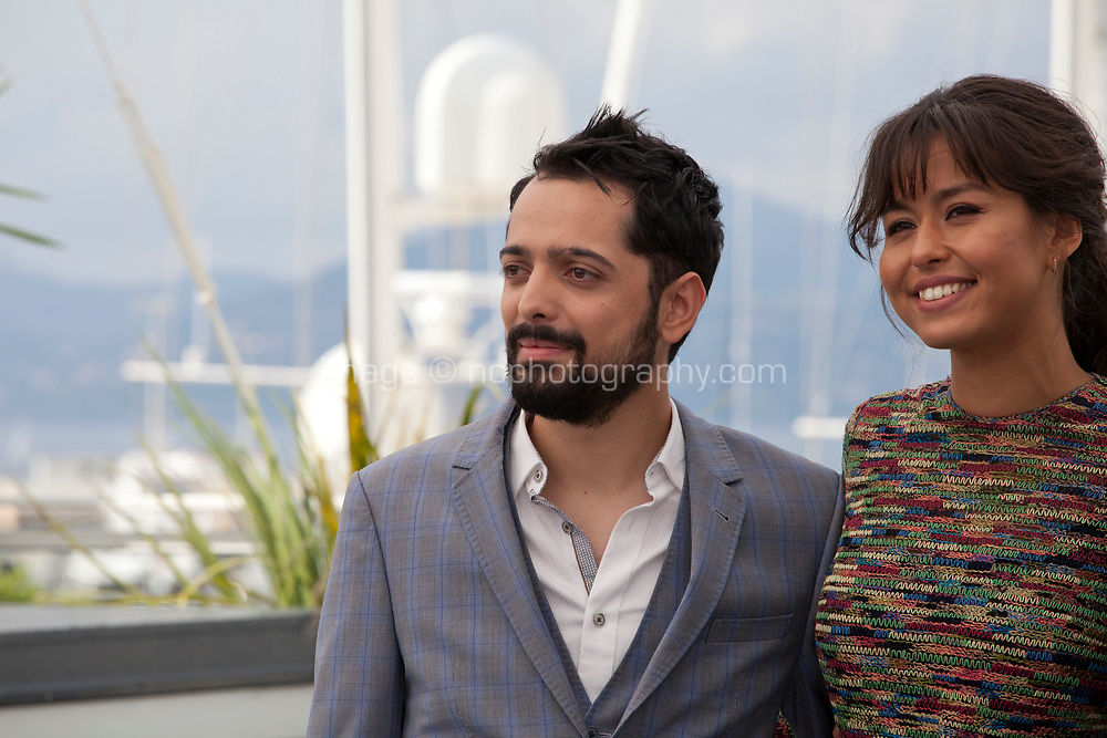 Director Joe Penna, Maria-Thelma Smáradóttir, at the Arctic film photo call at the 71st Cannes Film Festival, Thursday 10th May 2018, Cannes, France. Photo credit: Doreen Kennedy