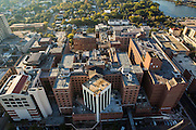Aerial view of the hospital district Charleston, South Carolina.