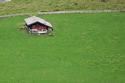 23.08.2010, Dorfertal, Kals, AUT, NPHT, Wiederansiedelung von Bartgeiern in der Nationalparkregion Hohe Tauern. Die Wiederansiedelung des Bartgeier ist ein Gemeinschaftsprojekt des Nationalparks Hohe Tauern, der Veterinärmedizinischen Universität Wien, der Zoologischen Gesellschaft Frankfurt und des Vereines Eulen und Greifvogelschutz Österreich. Es wird durch die Vulture Converservation Foundation unterstützt und durch das Programm der Ländlichen Entwicklung der Europäischen Union gefördert. Hier im Bild Almhütte im Kalser Dorfertal. EXPA Pictures © 2010, PhotoCredit: EXPA/ J. Groder