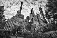 Central Park @ West 59th Street, Midtown (monochrome)