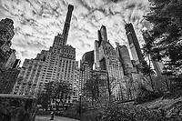 Central Park @ West 59th Street, Midtown (monochrome)