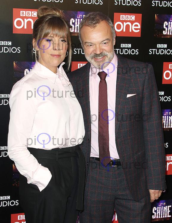 Mel Giedroyc & Graham Norton, Let It Shine - Photocall, Ham Yard Hotel, London UK, 13 December 2016, Photo by Brett D. Cove