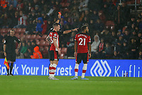 Football - 2019 / 2020 Premier League - Southampton vs. Leicester City<br /> <br /> Southampton's Ryan Bertrand receives a straight red card from Referee Mr Andre Marriner following a VAR decision at St Mary's Stadium Southampton<br /> <br /> COLORSPORT/SHAUN BOGGUST