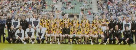All Ireland Senior Hurling Championship - Final,.14092003AISHCF,.14.09.2003, 09.14.2003, 9th September 2003,.Senior Kilkenny 1-14, Cork 1-11,.Minor Kilkenny 2-16, Galway 2-15,.Avonmore Super Milk, .Kilkenny, Back row from left, Philly Larkin, Andy Comerford, Aidan Fogarty, Brian Dowling, Jackie Tyrell, Ken Coogan, Sean Dowling, Noel Hickey, Henry Shefflin, James Ryall, Derek Lyng, John Hoyne, Peter Barry, Martin Comerford, Jimmy Coogan, Walter Burke, PJ Ryan, Diarmuid Mackey, Front row, from left Willie O'Dwyer, John Maher, Conor Phelan, Stephen Grehan, Tommy Walsh, Michael Kavanagh, James McGarry, DJ Carey, JJ Delaney, Eddie Brennan, Paddy Mullally, Pat Tennyson, Eddie Mackey, Aidan Cummins,