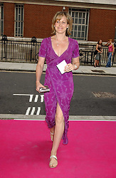 SANTA SEBAG-MONTEFIORE at a charity event 'In The Pink' a night of music and fashion in aid of the Breast Cancer Haven in association with fashion designer Catherine Walker held at the Cadogan Hall, Sloane Terrace, London on 20th June 2005.<br />