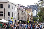 Australians celebrate Australia Day at The Rocks, Sydney, Australia..26th Jan 2013