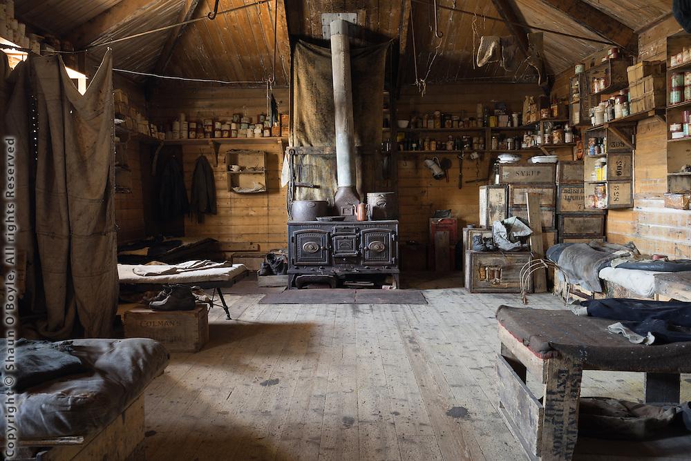 Shackleton's hut interior
