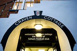 Entrance to the dressing rooms at Craven Cottage - Rogan/JMP - 31/10/2017 - Craven Cottage - London, England - Fulham FC v Bristol City - Sky Bet Championship.