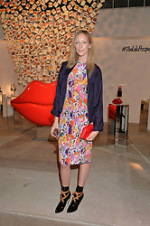 JADE PARFITT at the launch of The Lulu Perspective to celebrate 25 years of Lulu Guinness held at 74a Newman Street, London on 13th September 2014.