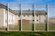 The rear garden area of Beaufort House, a skill development unit for enhanced prisoners. Part of HMP/YOI Portland, a resettlement prison with a capacity for 530 prisoners.Dorset, United Kingdom.