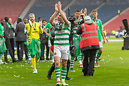 Celtic Captain Scott Brown shows his appreciation to the supporters following their 2-1 victory over Hearts in the William Hill Scottish Cup Final match between Heart of Midlothian and Celtic at Hampden Park, Glasgow, United Kingdom on 25 May 2019.