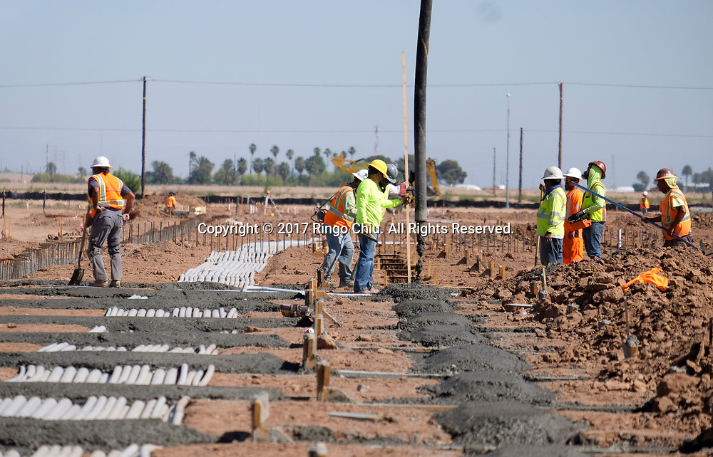 The construction site for a new shopping center by Pacificland International Development Inc., in Calexico (the US and Mexico border), California on Wednesday April 19, 2017. (Xinhua/Zhao Hanrong)(Photo by Ringo Chiu/PHOTOFORMULA.com)<br /> <br /> Usage Notes: This content is intended for editorial use only. For other uses, additional clearances may be required.