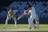 Lancashires Joe Burns  during the Specsavers County Champ Div 2 match between Lancashire County Cricket Club and Northamptonshire County Cricket Club at the Emirates, Old Trafford, Manchester, United Kingdom on 14 May 2019.