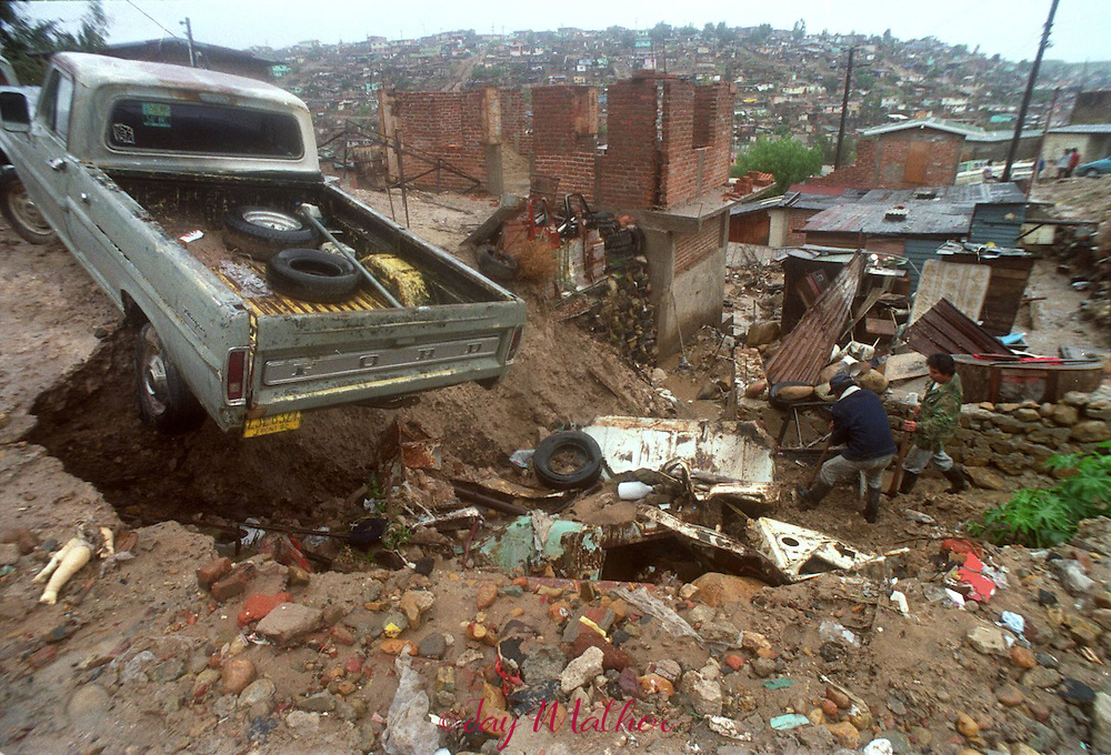 Residents of Tijuana, Mexico deal with the effects of a major flood in the city.