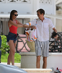 EXCLUSIVE: Abbey Clancy and Peter Crouch pictured on a romantic holiday while onboard a catamaran in Barbados. 12 Jun 2018 Pictured: Abbey Clancy and Peter Crouch. Photo credit: Shanice King/246paps / MEGA TheMegaAgency.com +1 888 505 6342