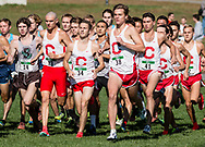 New York, New York - Cornell runners take off at the start of the Ivy League Heptagonal men's<br /> cross country championship meet at Van Cortlandt Park in the Bronx on Oct. 26, 2017.