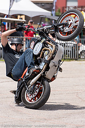Street Cowboys motorcycle stunt show at the 2016 ROT (Republic of Texas Rally). Austin, TX, USA. Friday, June 10, 2016.  Photography ©2016 Michael Lichter.