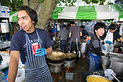 Food stall at Vietnam Open Festival 2013 (VOF 2013) is a Vietnamese cultural festival celebrating the very best of Vietnam in London. Held on the Southbank Riverside, the local diaspora mix with multi cultural Londoners.