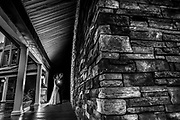 A bride and groom at The Mill Lakeside Manor in  Spring Lake, New Jersey.