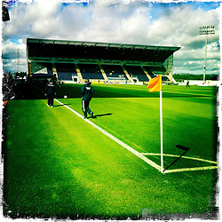 Falkirk stadium..Hipstamatic images taken on an Apple iPhone..©Michael Schofield.