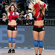 Anadolu Efes's Show girls during their Turkish Basketball League match Anadolu Efes between Banvit at Arena in Istanbul, Turkey, Sunday, November 06, 2011. Photo by TURKPIX