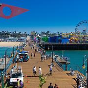 Santa Monica pier boardwalk and luna-park, LA, California