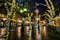 Fourth Avenue along Westlake Park, Downtown Seattle