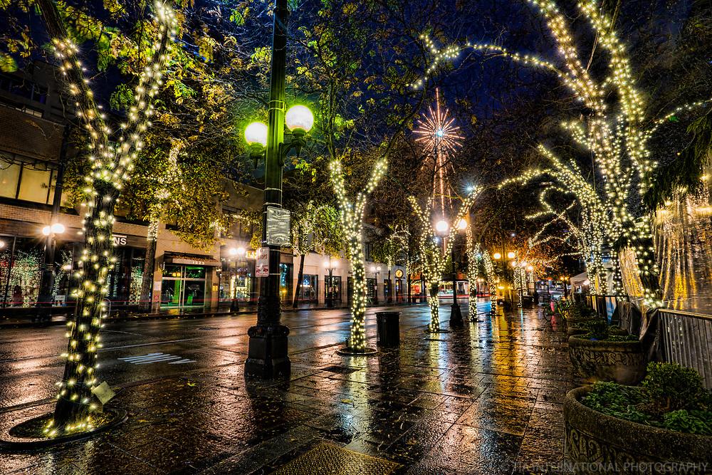 Fourth Avenue along Westlake Park, Downtown Seattle