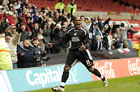 Photo: Leigh Quinnell.<br /> Nottingham Forest v Swansea. Coca Cola League 1. 11/02/2006. Swanseas Adrian Forbes celebrates after his goal.