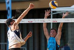 Jure Peter Bedrac vs Gasper Vrhunc at tournament for Slovenian national championship - Drzavno prvenstvo Kranj 2013 on July 26, 2013, in Kranj, Slovenia. (Photo by Matic Klansek Velej / Sportida)