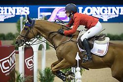 Davis Lucy, (USA), Barron for Steve Guerdat<br /> Longines FEI World Cup™ Jumping Final II<br /> Las Vegas 2015<br />  © Hippo Foto - Dirk Caremans<br /> 18/04/15