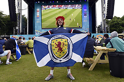 Scotland fans at the Fan Zone in Glasgow as they watch the UEFA Euro 2020 Group D match between Scotland and the Czech Republic held at Hampden Park. Picture date: Monday June 14, 2021.