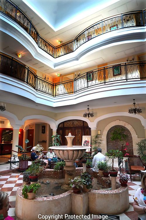 The lobby of the Iberostar Grand Trinidad in Trinidad, Cuba<br /> Photo by Dennis Brack