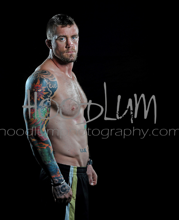 """Portrait of MMA Cage Fighter Jason """"The Dragon"""" lee taken for Prize Fighting Championship"""