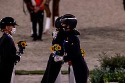 Von Bredow-Werndl Jessica, GER, Dujardin Charlotte, GBR<br /> Olympic Games Tokyo 2021<br /> © Hippo Foto - Dirk Caremans<br /> 28/07/2021