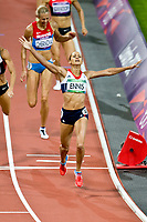 LONDON OLYMPIC GAMES 2012 - OLYMPIC STADIUM , LONDON (ENG) - 04/08/2012 - PHOTO : VINCENT CURUTCHET / KMSP / DPPI<br /> ATHLETICS - HEPTATHLON - JESSICA ENNIS (GBR) / WINNER GOLD MEDAL