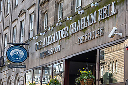 The Wetherspoon pub, The Alexander Graham Bell on George Stree. Edinburgh on the day after the Lockdown.
